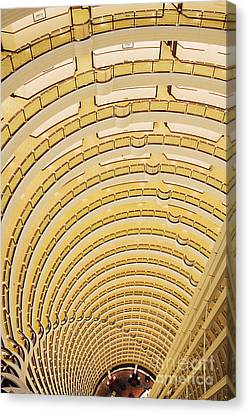 Hotel Atrium In The Jin Mao Tower Canvas Print by Jeremy Woodhouse