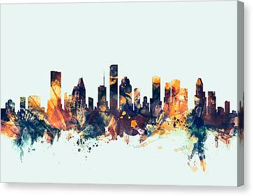 Houston Texas Skyline Canvas Print by Michael Tompsett