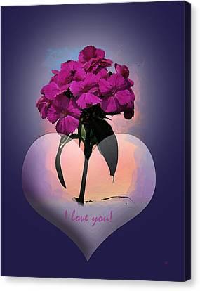 I Love You Canvas Print by Gerlinde Keating - Galleria GK Keating Associates Inc