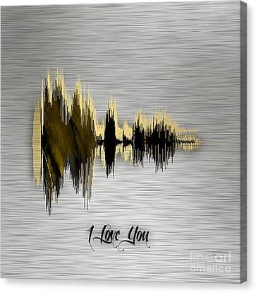 I Love You Sound Wave Canvas Print