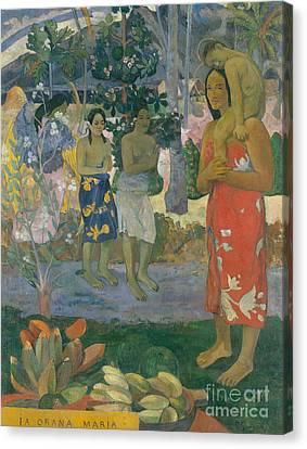 Ia Orana Maria  Hail Mary Canvas Print