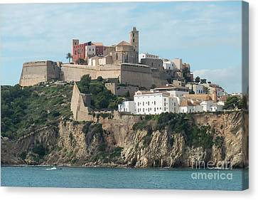 Ibiza Town And Castle Canvas Print
