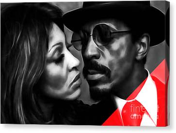 Ike And Tina Turner Collection Canvas Print