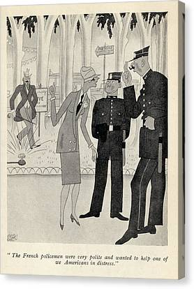 Illustration By Ralph Barton 1891 To Canvas Print