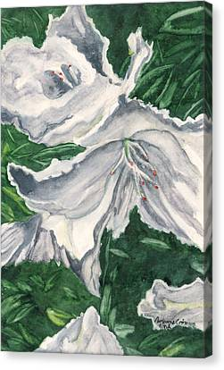 Canvas Print featuring the painting Impression Of Azaleas  by Antonia Citrino