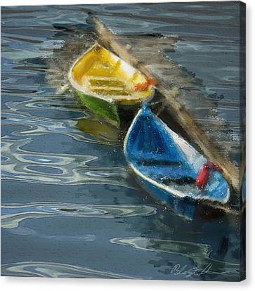 Canvas Print featuring the digital art 2 In Waiting by Dale Stillman