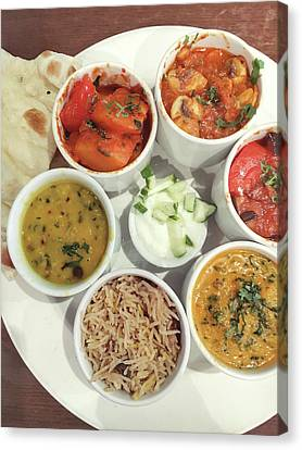 Indian Food Selection Canvas Print by Tom Gowanlock