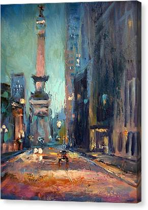 Canvas Print - Indy Circle Monument by Donna Shortt