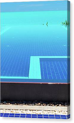 Canvas Print featuring the photograph Infinity Pool by Atiketta Sangasaeng