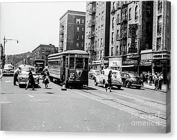 Canvas Print featuring the photograph Inwood Trolley  by Cole Thompson