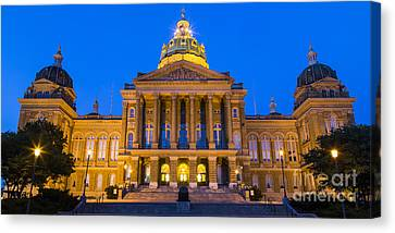 Iowa State Capitol Building Canvas Print by Twenty Two North Photography