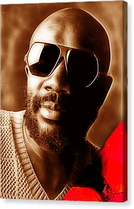 Issac Hayes Collection Canvas Print by Marvin Blaine