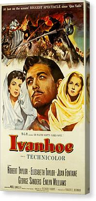Ivanhoe, Elizabeth Taylor, Robert Canvas Print by Everett