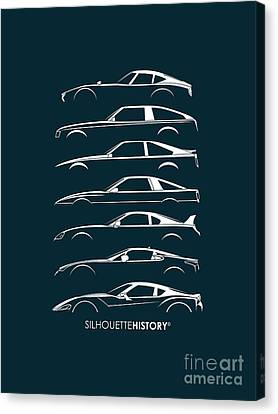 Japanese Sports Car Silhouettehistory Canvas Print by Gabor Vida