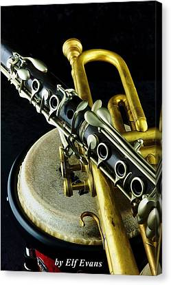 Canvas Print featuring the photograph Jazz by Elf Evans