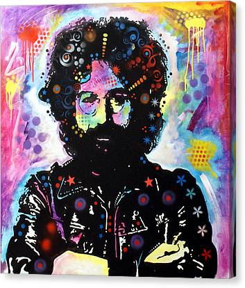 Canvas Print featuring the painting Jerry Garcia by Dean Russo