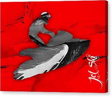 Jet Ski Collection Canvas Print