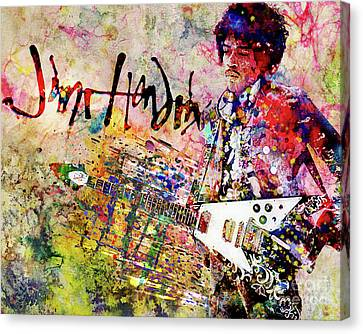 Jimi Hendrix Art Canvas Print