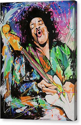 Jimi Hendrix Canvas Print by Richard Day