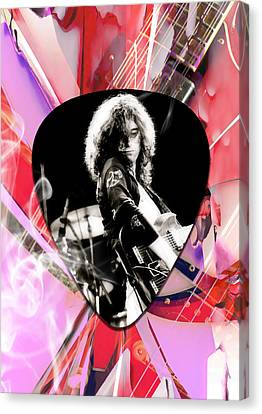 Jimmy Page Led Zeppelin Art Canvas Print by Marvin Blaine