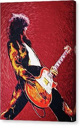 Jimmy Page  Canvas Print by Taylan Apukovska