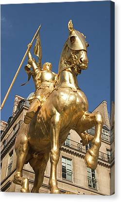 Joan Of Arc Canvas Print by Carl Purcell