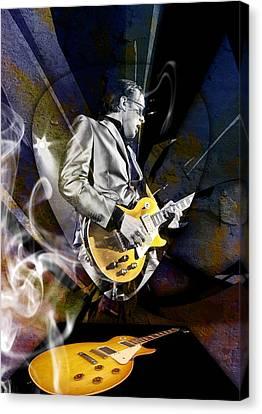 Joe Bonamassa Blue Guitarist Art Canvas Print by Marvin Blaine