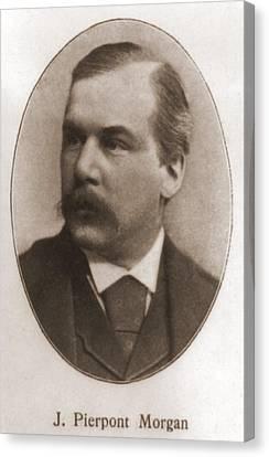 John Pierpont Morgan, 1837-1913 Canvas Print by Everett