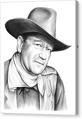 Western Canvas Print - John Wayne by Greg Joens