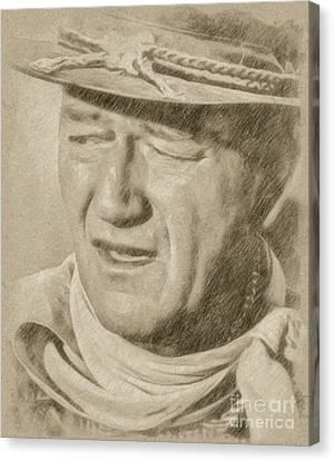 John Wayne Hollywood Actor Canvas Print by Frank Falcon