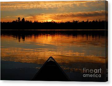 Jordan Lake Sunset Canvas Print by Larry Ricker