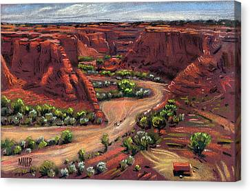 Junction Canyon De Chelly Canvas Print by Donald Maier