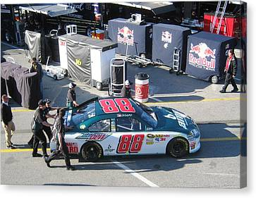 Jr Motorsports Canvas Print - Junior's Number 88 by Jamie Baldwin