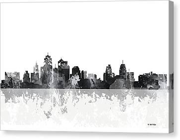 Kansas City Missouri Skyline Canvas Print by Marlene Watson