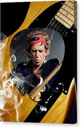Keith Richards The Rolling Stones Art Canvas Print