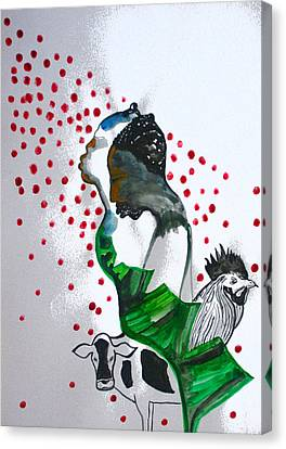 Kintu And Nambi Poster Canvas Print by Gloria Ssali