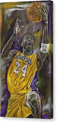 Kobe Bryant Canvas Print by David Courson