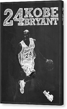 Kobe Bryant Canvas Print by Semih Yurdabak