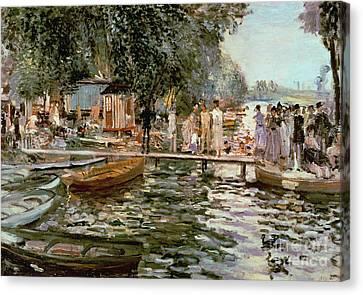 Pleasure Canvas Print - La Grenouillere by Pierre Auguste Renoir