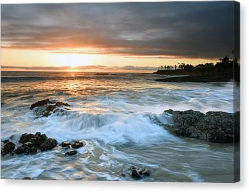 Canvas Print featuring the photograph Laguna Beach Sunset by Dung Ma
