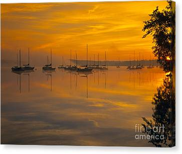 Lake Massabesic - Auburn New Hampshire Usa Canvas Print by Erin Paul Donovan
