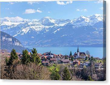 Lake Thun - Switzerland Canvas Print by Joana Kruse