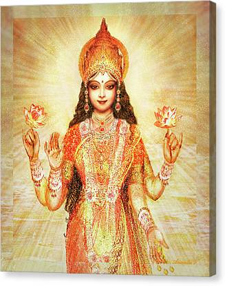 Lakshmi The Goddess Of Fortune And Abundance Canvas Print