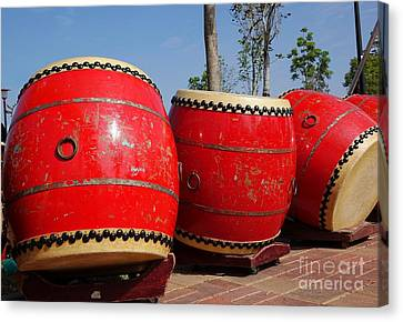 Large Chinese Drums Canvas Print by Yali Shi