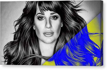 Lea Michele Collection Canvas Print by Marvin Blaine