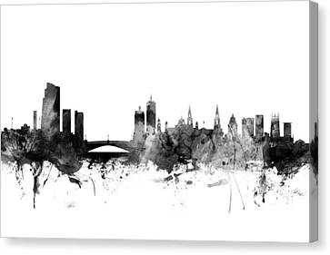 Leeds England Skyline Canvas Print by Michael Tompsett