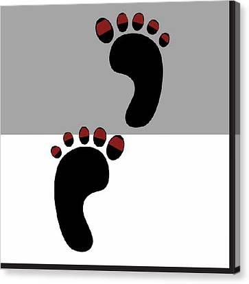 2 Left Feet Canvas Print by Shannon Jordan