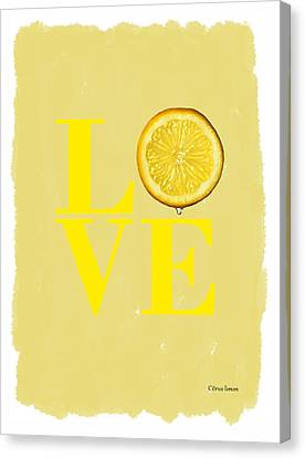 Lemon Canvas Print by Mark Rogan