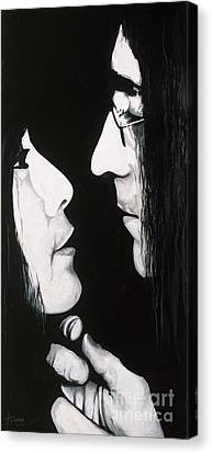 Lennon And Yoko Canvas Print by Ashley Price
