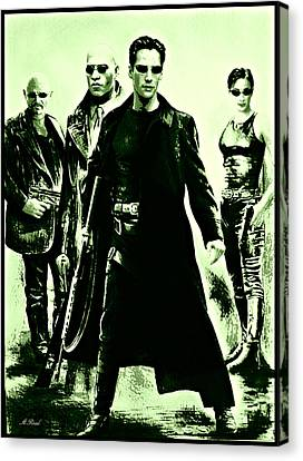 Keanu Canvas Print - Let The Battle Begin by Andrew Read
